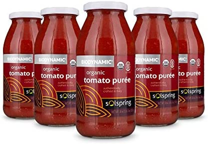 Dr Mercola Solspring Biodynamic Organic Tomato Pur e 6 Jars about 8 Servings per Jar 18 Oz per product image