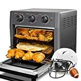 WEESTA 19 Quart Air Fryer Toaster Oven, 5-IN-1 Countertop Convection Oven with Air Fry Air Roast Toast Broil...