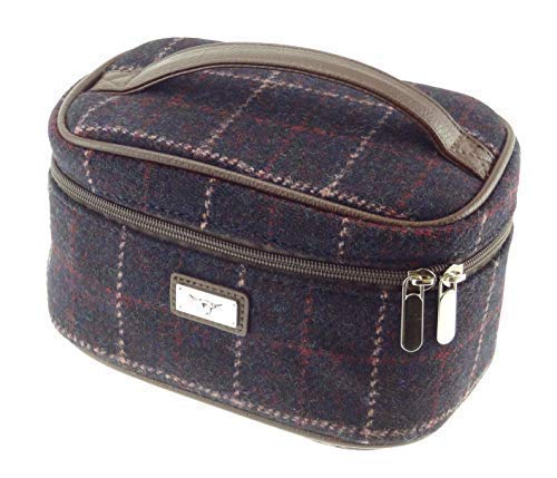 Damen Original Harris Tweed Kosmetiktasche Erhältlich in Verschiedenen Farben - Farbe 39, 14cm H x...