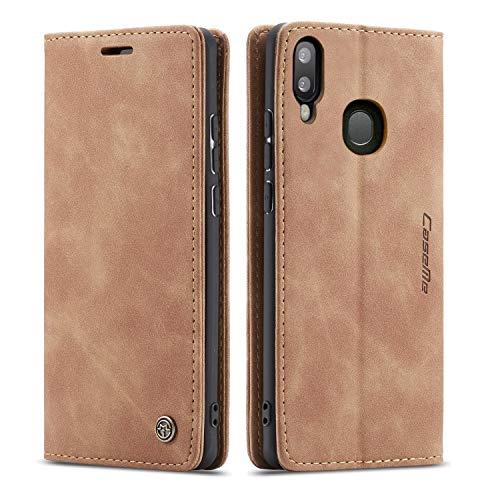 Étui Portefeuille Fin en Cuir pour Samsung A Series Samsung Galaxy A50/A50S/A30S Marron