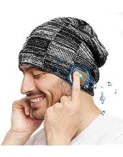 COTOP Gorro de Invierno Bluetooth 5.0, Regalos Originales, Gorro de Punto Musical para Hombres y Mujeres con Auriculares estéreo y micrófono Manos Libres, Regalos de cumpleaños para Amigos, familias