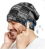COTOP Gorro de Bluetooth, Musical Beanie Hombre Mujer Bluetooth Tejido Bluetooth 5.0 Gorro de Invierno con Auricular estéreo y micrófono Manos Libres (Gris)