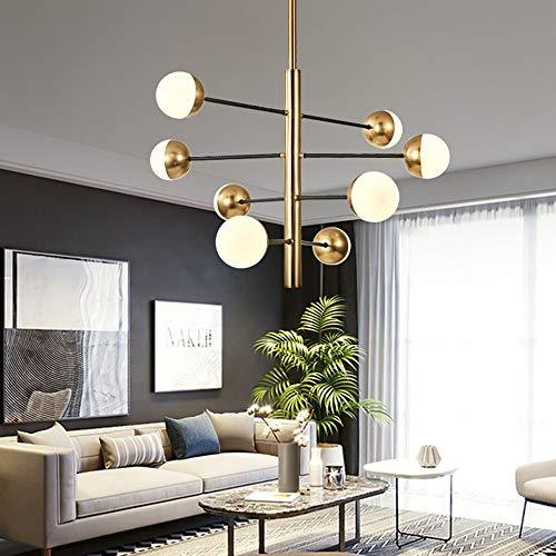 Lámparas de Techo LED de Oro Caliente de la Personalidad de luz de la lámpara Moderna de la decoración del hogar Salón Comedor Dormitorio Sala de Estudio 72 * 100cm Candelabros YFJFJ Tienda
