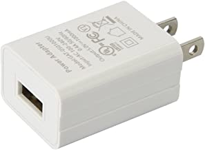 US Plug USB Power Charger, 5V 1A Power Adapter, 5W OEM Charger for Amazon Kindle 3 4 5, Paperwhite 2 3, Power Adapter for Amazon Kindle Paperwhite (White, No Cable)
