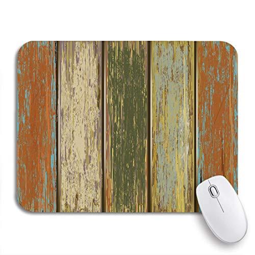 Gaming mouse pad holz alte farbe holzzaun verwitterte getreideplanke vintage rutschfeste gummi backing computer mousepad für notebooks maus matten