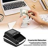 Mini-geldzähler-maschine - Intelligent Tragbarer Banknotendetektor Geldscheinzähler für Gemischte Stückelungen Geldzählmaschine mit LED-anzeige & Fälschungserkennung für Kleine Unternehmen(EU) - 3