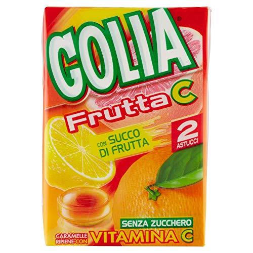 Golia Frutta C Caramelle Ripiene Gusto Agrumi, senza Zucchero e senza Glutine, con Vitamina C