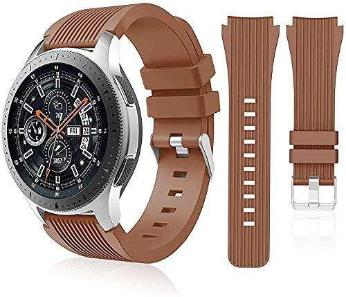 Correa de reloj compatible con Huawei Watch GT2 Pro/Samsung Galaxy Watch 46 mm/Galaxy Watch 3/Gear S3 45 mm 22 mm Smart Sport Watch Correa de repuesto para hombres y mujeres-marrón