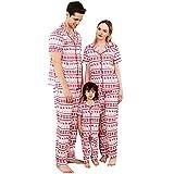 Alueeu Navidad Familia Conjunto de Ropa a Juego Mascota Bebé Niño Hombres Mujeres Reno Pijamas Camisón Casual Homewear Año Nnuevo Vacaciones