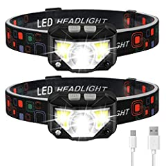🏃 ✅Long Press Function and Motion Sensor: Unlike the old version, LHKNL headlamp has added a long press function. In any mode, if you hold the key mode button for 3 seconds, you can turn off the light directly, no longer need to cycle all modes. It a...