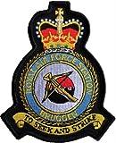 RAF Brüggen Royal Air Force Station Boden Mod Wappen Desert bestickt Patch