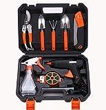 Juego de herramientas de jardín Parkarma, 10 unidades, duraderas, herramientas de jardín ergonómicas, con caja para jardín, balcón