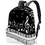 TIZORAX Mochila Informal para Mujer Piano con Notas Musicales Mochilas Escolares Grandes Mochila Mochila para Viajes Senderismo