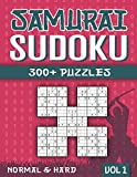 Samurai Sudoku: Sudoku Book for Adults with 300+ 5 in 1 Sudoku - Normal and Hard - Vol 1