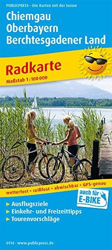 Chiemgau - Oberbayern - Berchtesgadener Land: Radkarte mit Ausflugszielen, Einkehr- & Freizeittipps, wetterfest, reißfest, abwischbar, GPS-genau. 1:100000 (Radkarte: RK)