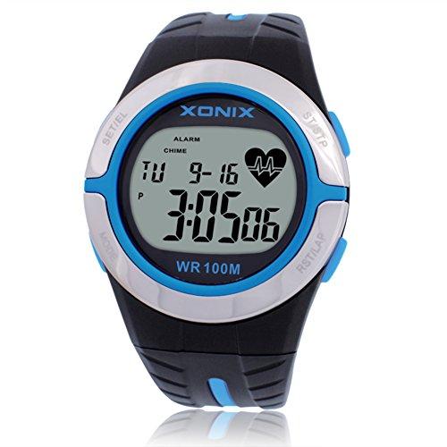 Kalorie Herzschlag Puls Bewegungserkennung testen/Ohne Brustgurt Uhren Herzfrequenz wasserdicht digital-C