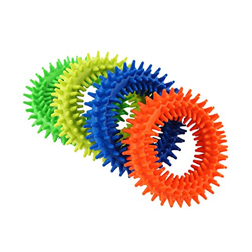 Spiky Sensory Ring Fidget Toys (Pack of 4), Stress Relieve Toy,Sensory Toys,Helped with ADHD ADD OCD Autism, Depressions and Anxiety Disorders. BPA/Latex/Phthalate Free