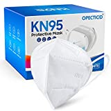 KN95 Face Mask 30 Pack, OPECTICID KN95 Masks White Individually Wrapped Cup Masks Breathable 5-Layer Filter Efficiency≥95% Against PM2.5 Disposable Certified KN95 Respirator Masks