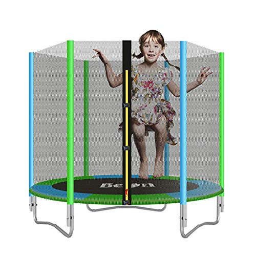 XDKQ 6FT Indoor Outdoor Trampoline Jumper Suitable for Adult Kids, Equipped with Thicken Safety Net/Thicken Steel Pipe, Fun Toys for Fitness,Best Gifts