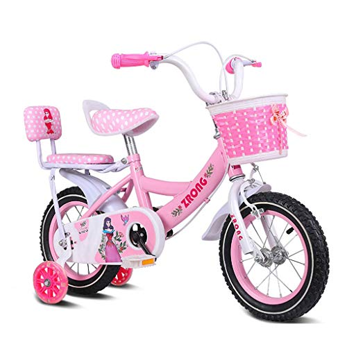 Aohi WXQ-XQ Children's Bicycles 16-inch Girls Bikes 4-7 Years Old Baby Carriages High-Carbon Steel Bikes, Pink/Purple/Blue Children's Bicycle (Color : Pink) Outdoor Sports Mountain Bike
