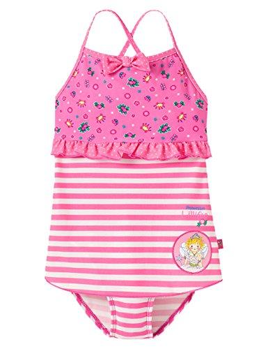 Schiesser Mädchen Einteiler Badeanzug UV Schutz 40+ UV Schutz 40+ Prinzessin Lillifee, Gr. 116, Rot (rosé 506)