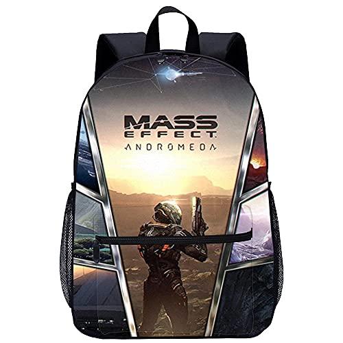 Yinxing 3D gedruckte Cartoon-Schultasche Jugend Schule Rucksack Mass Effect Andromeda-Unisex Schultasche Rucksack Freizeit Schulausflug -Größe: 45x30x15 cm/17 Zoll-Mode Rucksack