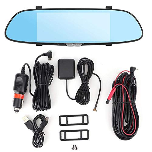 LCZB Cámara de Coche, Grabador De Conducción De Automóviles Controlador Grabador De Video Cámara Dual Navegación GPS Espejo Retrovisor 4G Car Dash CAM