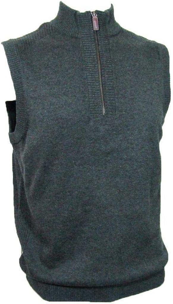 Roundtree & Yorke Men's BIG MAN Quarter Zip Vest (Charcoal) Size 2XB
