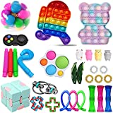 DIY Decompression Fidget Toys Set, Fidget Toys Pack Cheap, Press Type Early Educational Stress Relief Toys Kit for Adult and Children, Sensory Therapy Toys for ADHD Autism Stress Anxiety (PCS5)