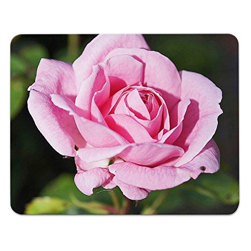 Addies muismat ROSEN Design2, mooi muismat motief in fijne cellofaan geschenkverpakking met rubber ondermateriaal, 240x190mm roze