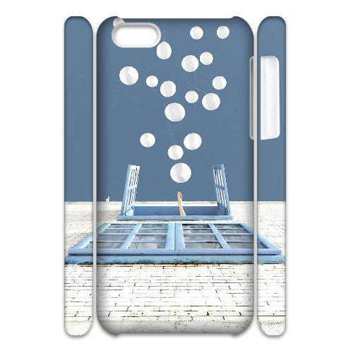 iPhone 5C caso, DIY coloridos globos patrón para iPhone 5C Back Cover teléfono móvil [xmmcase]