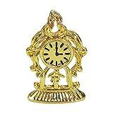 lahomia Casa de muñecas miniaturas Estilo Vintage Oro Reloj de Pared Arte 1/12 Escala casa de muñecas Dormitorio Escena de la Vida Accesorio Juego de