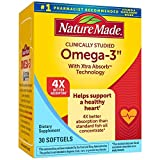 Nature Made Fish Oil Omega 3 with Xtra Absorb Technology, 30 Softgels, Omega 3 Supplement for Heart Health