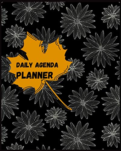 Daily Agenda Planner With Floral Cover | Agenda 2021 Daily...
