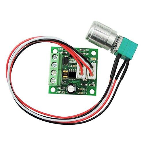 PIXNOR 1803BKW 1.8V 3V 5V 6V 7,2 v 12V 2A 30W DC Motor Controller (PWM) verstellbare Fahrer Drehzahlschalter