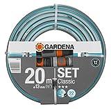 Gardena 18008-20 - Manguera de jardín (20 m, Por encima del suelo, Azul, Gris, 22 bar, 1,3 cm)