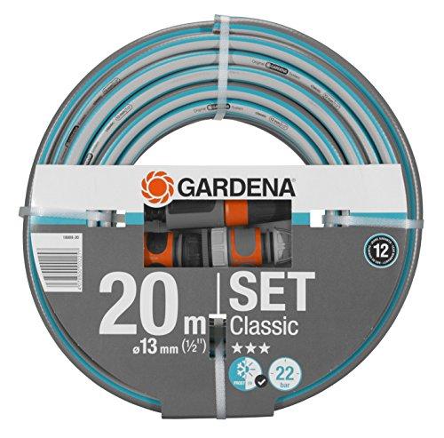 Gardena Classic Schlauch 13 mm (1/2 Zoll), 20 m: Universeller Gartenschlauch aus robustem Kreuzgewebe, 22 bar Berstdruck, UV-beständig (18008-20)
