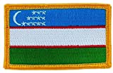 Patch écusson brodé drapeau ouzbekistan ouzbek thermocollant backpack