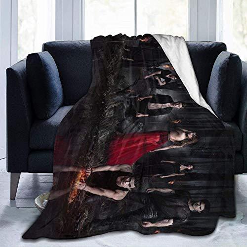 Suave, Acogedor, cálido, Esponjoso, el Vampiro, Programa de televisión, Mantas de Diario de 80 'x 60' Pulgadas para Cama, sofá, Silla, Coche, Camping