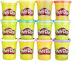Play-Doh Bulk Spring Colors 12-Pack of Non-Toxic Modeling Compound, 4-Ounce Cans