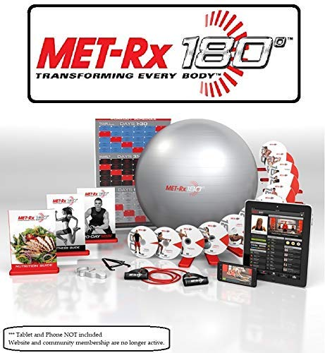 Price comparison product image Met-Rx® 180 Workout Fitness Exercise Ball Program Complete Kit - Transforming Every Body