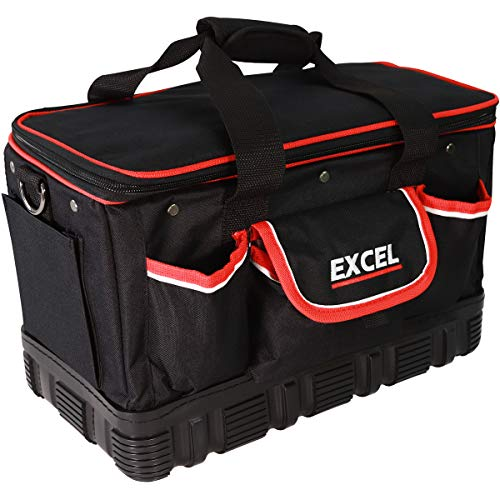 Excel 16 inch Technicians Tool Bag with Shoulder Strap - Black
