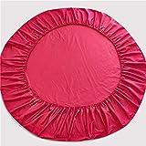 LPNJLALA Baumwolle Rundbett Spannbettlaken Runde Bedspread Anti-Rutsch-Matratzenbezug Romantisches Solid Color Round-Bett-Blatt,Farbe 13,1pc 200cm Blatt - 6