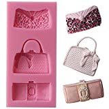 Funshowcase Designer Handbag Clutch Bags and Purses Silicone Candy Mold for Cake Decoration, Cupcake Decorate, Polymer Clay, Crafting