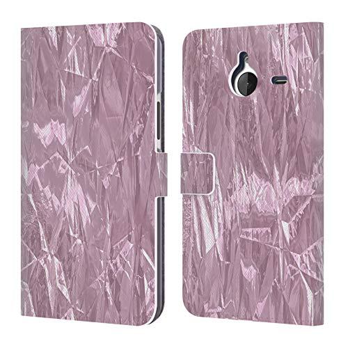 Head Hülle Designs Offizielle LebensArt Folie Glamour Stoffe Leder Brieftaschen Huelle kompatibel mit Microsoft Lumia 640 XL/Dual SIM