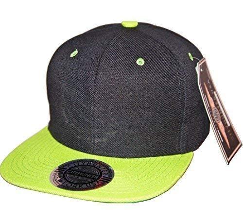 City Hunter deux tons Peak Snapbacks Plat Bouchons, drap-housse de baseball bord Street Hip Hop Chapeaux - Multicolore - Taille unique