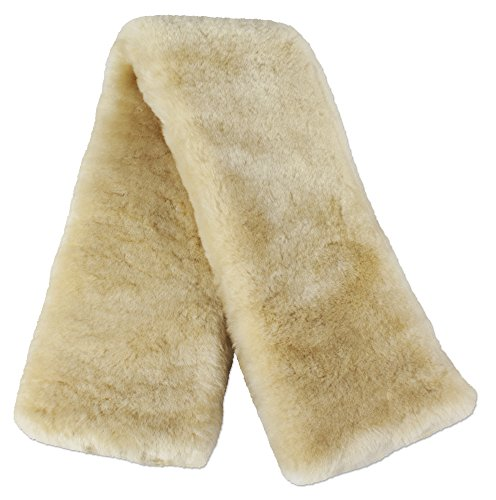 ECP Real Genuine Sheepskin Girth Protection Cover | Helps Prevent Gall Sores Chafes | 22 Inches Gold