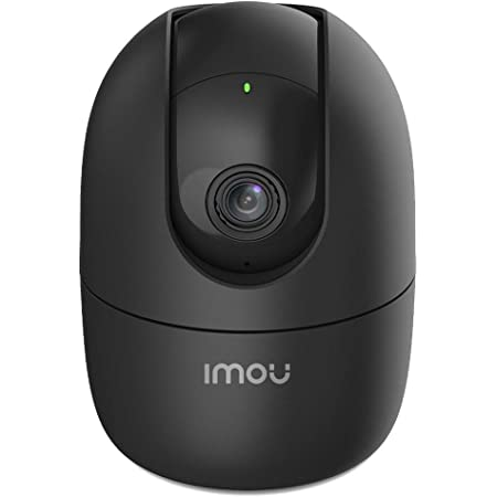 Imou 360 Degree Security Camera (Black), Up to 256GB SD Card Support, WiFi & Ethernet Connection, 1080P Full HD, Privacy Mode, Alexa Google Assistant, Human Detection, 2-Way Audio, Night Vision