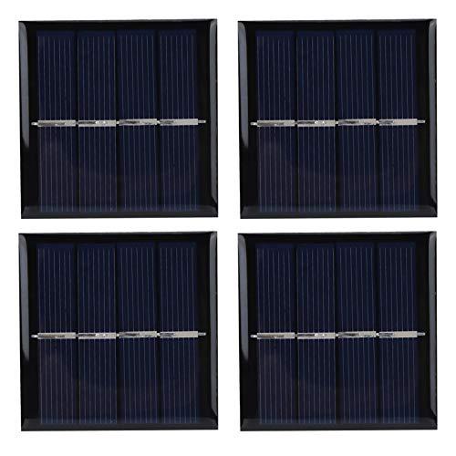 4 piezas Panel solar, panel de cargador solar para mascotas, accesorios de carga, fuentes de alimentación solar, panel solar de 0,45 W 2 V, 58x58mm