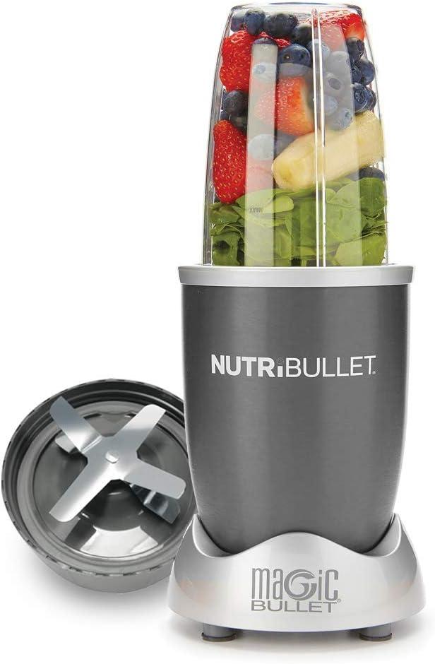 456 opinioni per Nutribullet Pro 900 Watt- grigio- Frullatori da tavolo- smoothie- set a 5 pezzi-